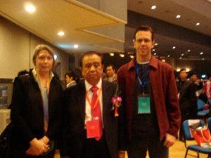 Dr. Diego ao lado da Presidente da Federação Mundial de Acupuntura - Pequim 2017