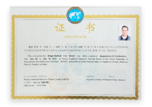 Aperfeiçoamento em Acupuntura - Pequin, China