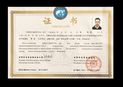 certificado internacional wfas